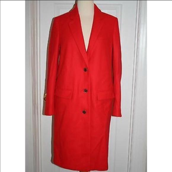 Melton wool topcoat sz 6 beautiful red worn once!